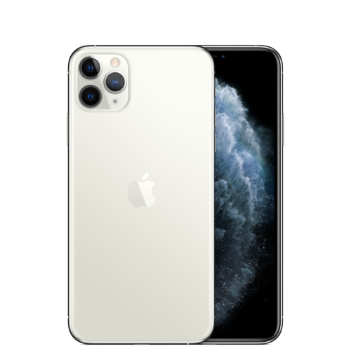 iPhone 11 pro Max 512gb silver back camera view