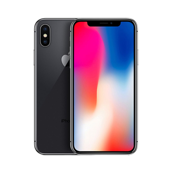 iPhone X 64gb black front back view